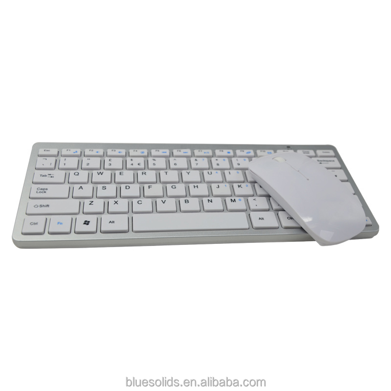 Latest portable 2.4G white wireless combo keyboard and mouse