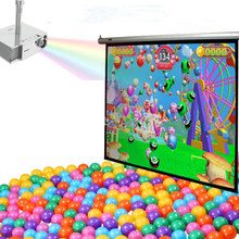 Interactive activities touch screen wall projection games for kids
