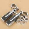 Chrome Skidproof Foot Pegs & Clamps For KAWASAKI VULCAN VN400 VN800 VN900 VN1500