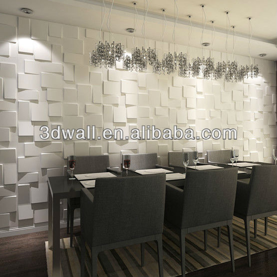 Interior Wall Decoration Thick Plastic Sheet Wall Panelrice Paper