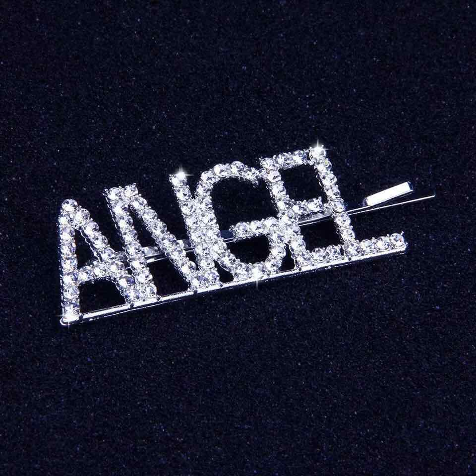 hot sell fashion shiny diamond letter hairpin