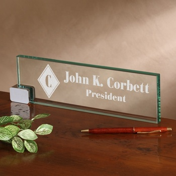 table top jade glass name plates customized buy table top jade