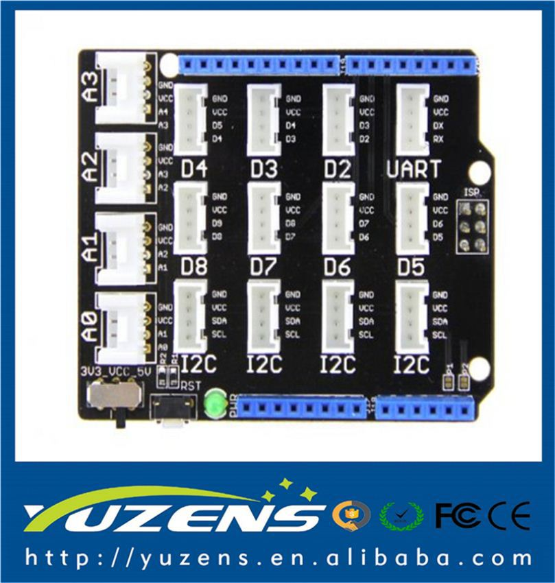 Thats Why We Add A Power Switch To Base Shield V2 One Of Which Is Vcc Not Every Micro-Controller Main Board Needs A Supply Voltage Of 5V However Some Need 3.3V Seeedstudio Base Shield V2 // Power Compatible: Every Grove Connector Has Four Wires