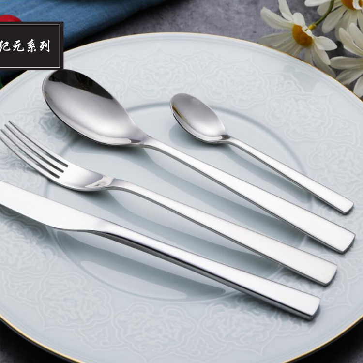 luxury tableware spoon set long handle thailand stainless steel flatware