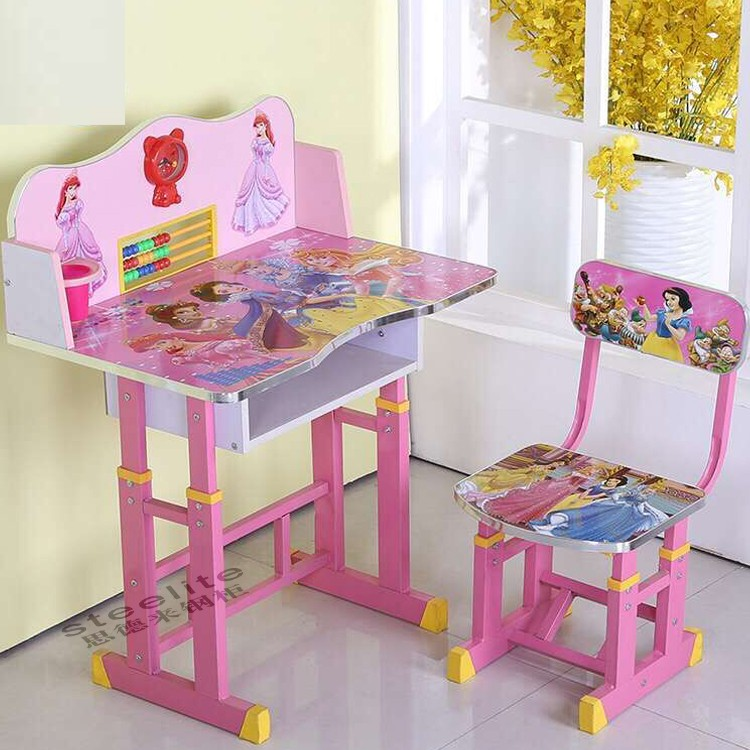 Cheap Height Adjustable Kids Table Student Study Desk