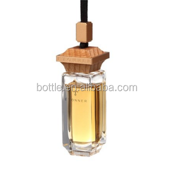 10ml new style hanging car perfume bottle with wooden cap factory sale