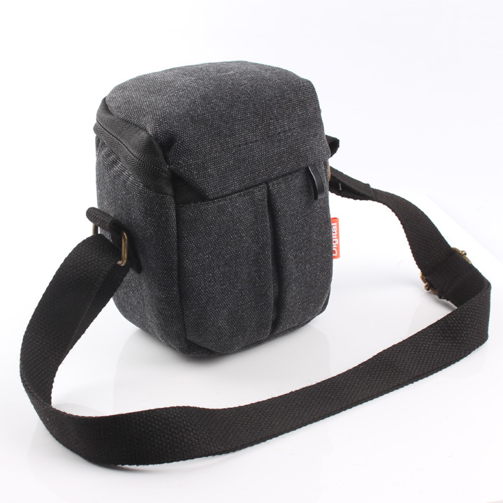 Handmade Genuine real Leather Full Camera Case bag cover for Nikon Coolpix P330 Black color