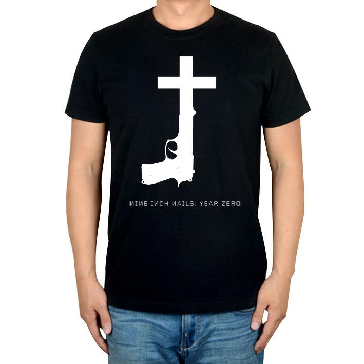 Buy Summer Style Nine Inch Nails Rock band men women shirt punk ...