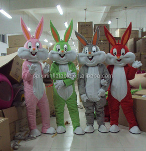 plush fabric the easter bunny mascot costume, cute the easter bunny costume