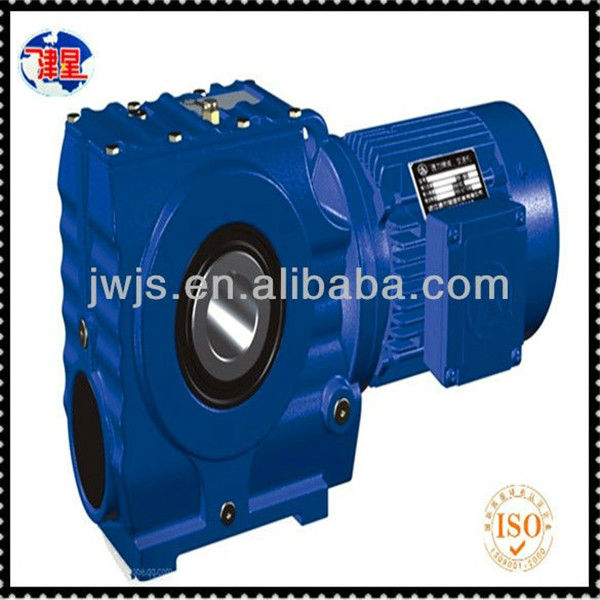 JK series helical gear reducer with electric motor