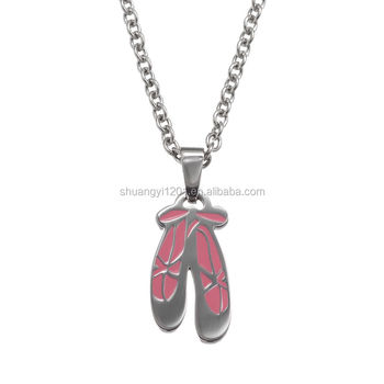 wholesale ballet jewelry wholesale custom ballet slippers pendant necklace buy 7695