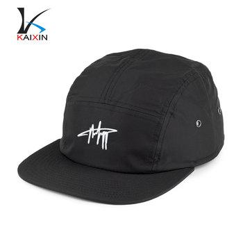 High Quality Snapback Black Nylon 5 Panel Hat 5 Panel Snapback - Buy ... 653413aa179