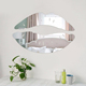 lip shaped wall mount acrylic home hanging mirror with laser cutting shapes