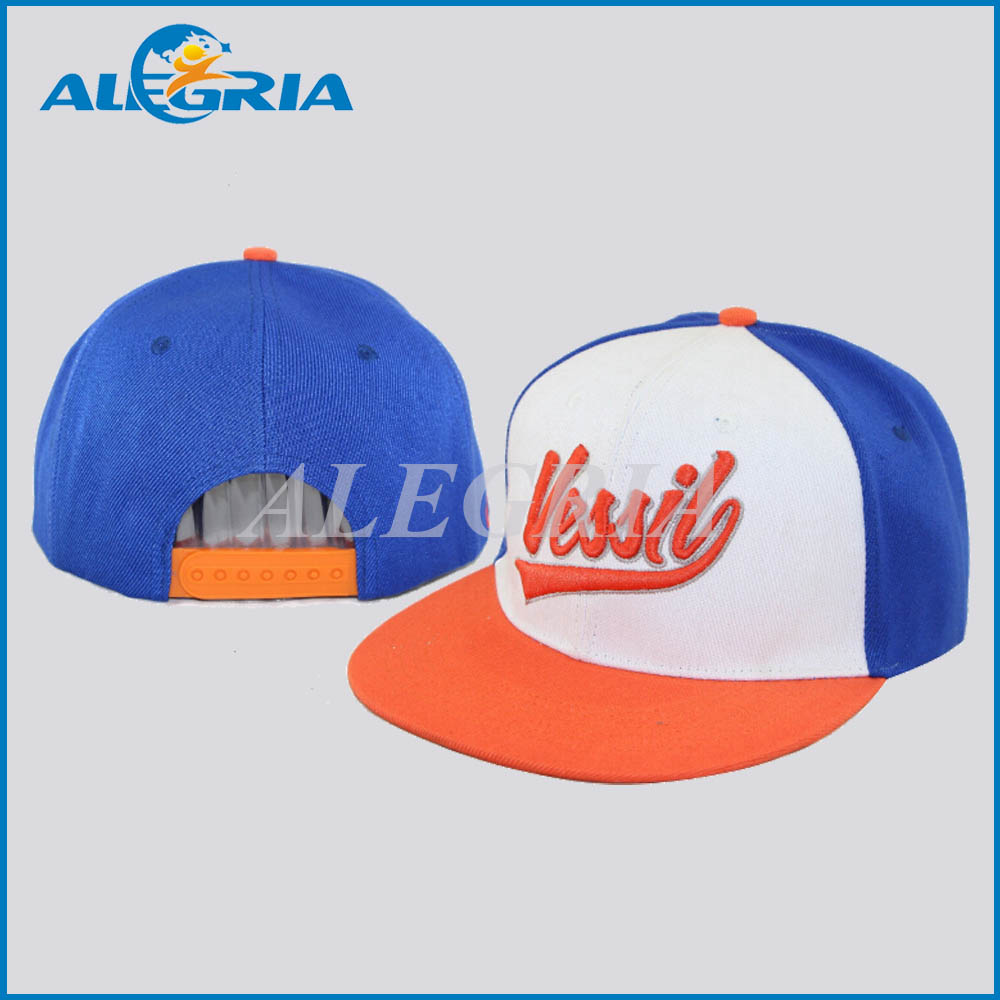 100% cotton embroidery flat brim snapback cheap name brand hats