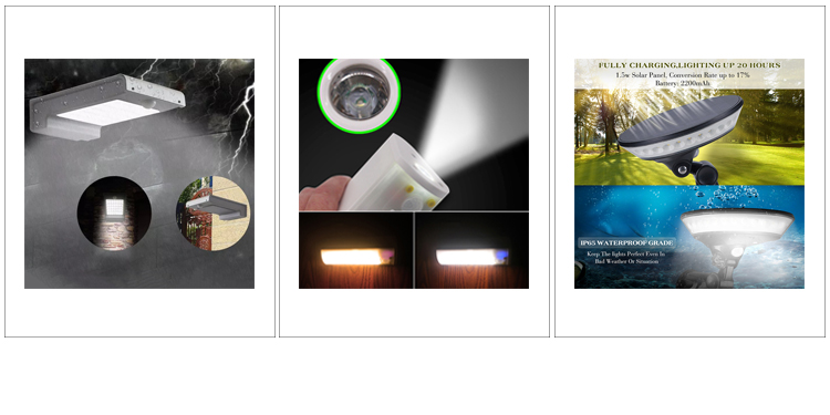 New Fashion Motion Sensor IP65 Waterproof Modern LED Solar Light Outdoor Garden Wall Lamp Light