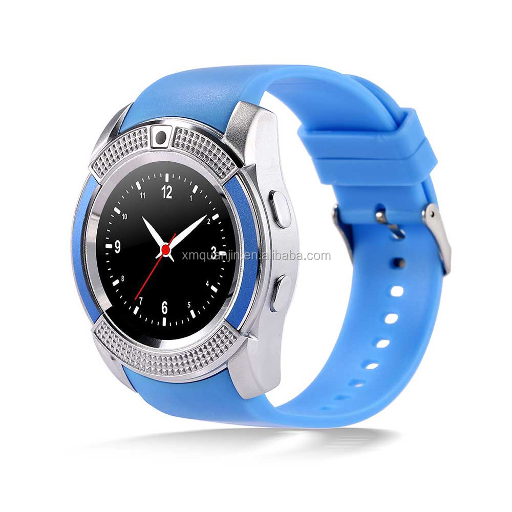 V8 1.22 inch Touch Screen 2G Calling Bluetooth Smart Watch with 0.3MP Camera, Support Pedometer / Music Player / Sleep Monitori