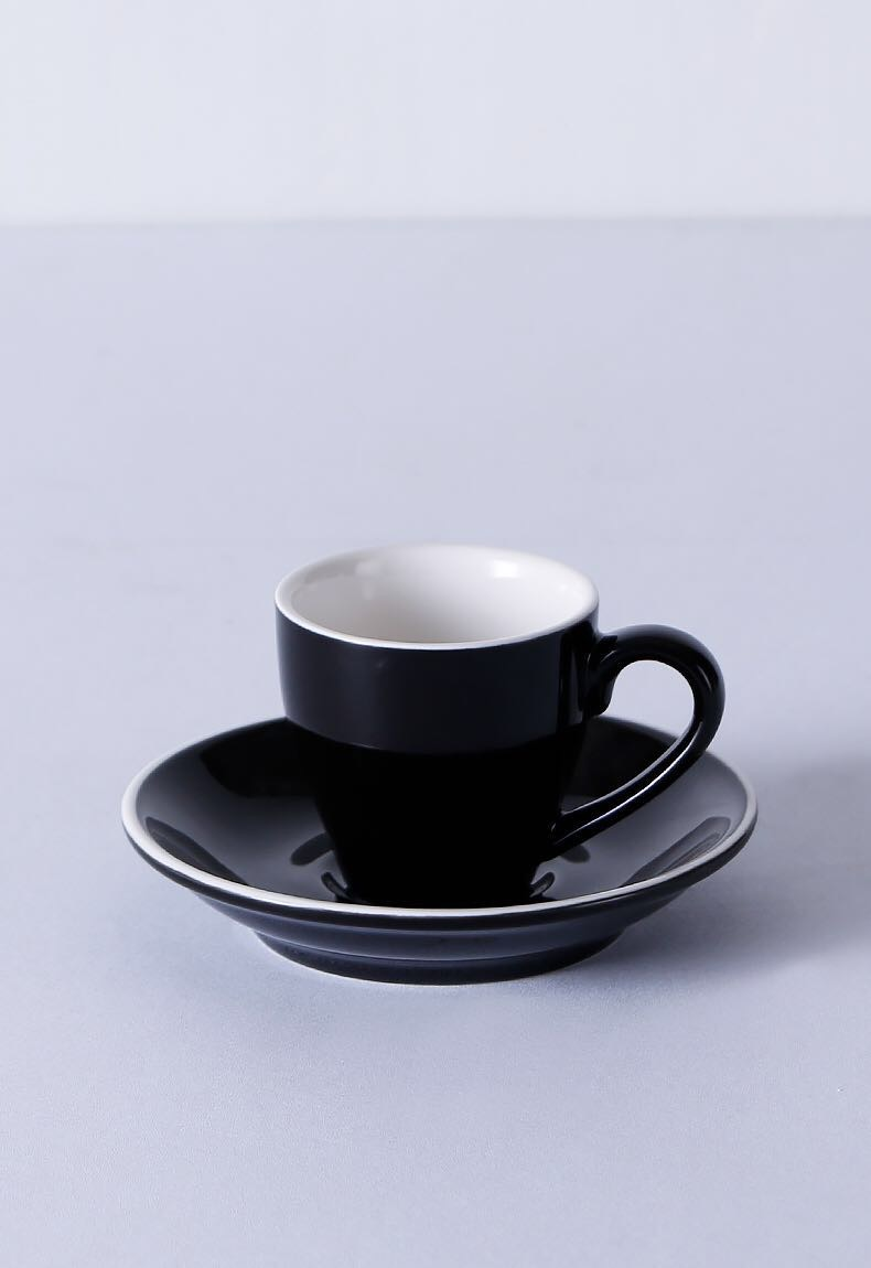 Custom logo wholesale small 80ml porcelain espresso coffee cup and saucer