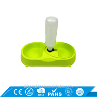Durable Double Bowl Water Bottle Automatic Pet Feeder