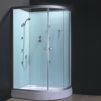 China Shower Enclosure Supplier Generator D Shape Shower Cabin Kit Sauna  Room