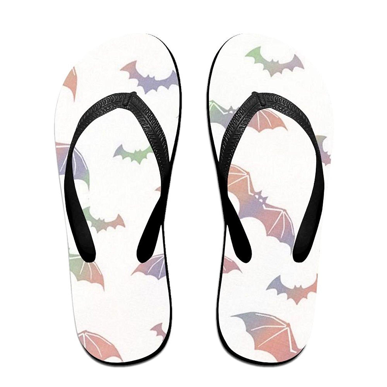 Couple Flip Flops Brown Polar Bear Print Chic Sandals Slipper Rubber Non-Slip Beach Thong Slippers