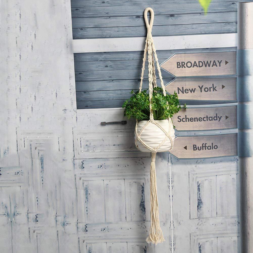 Wall of Dragon Flower Plant Pot Basket Holder Vintage Macrame Flowerpot Holder Plant Hanging Rope Wall Hanging Art Home Decoration