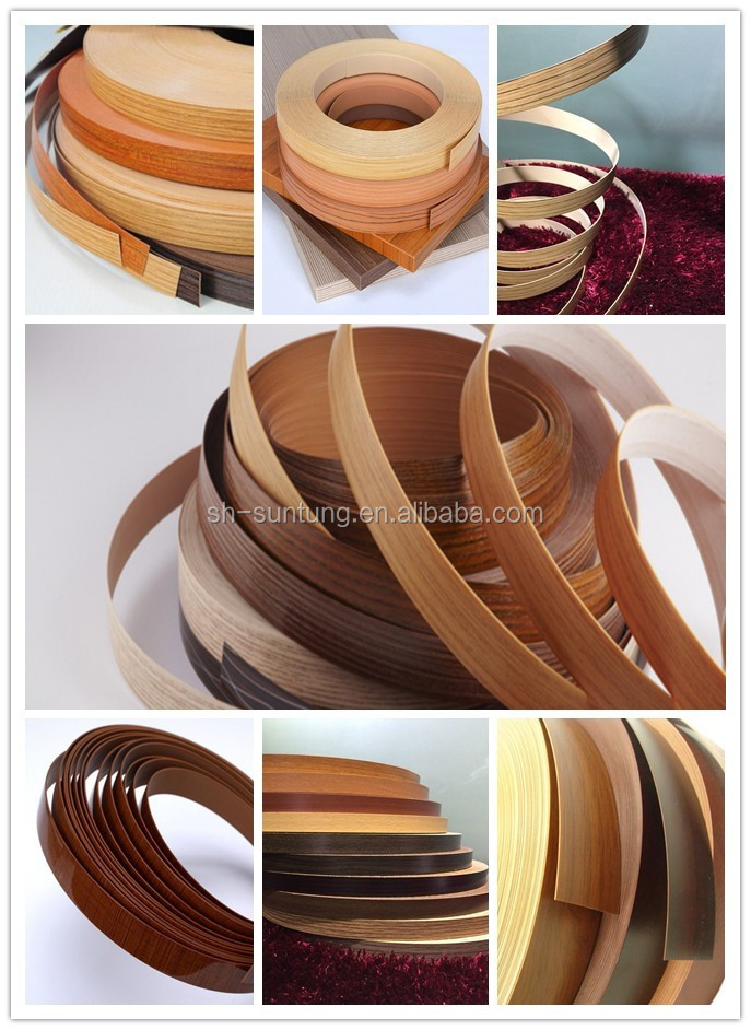 Home cabinets environment protection, PVC edge banding for wood furniture accessories