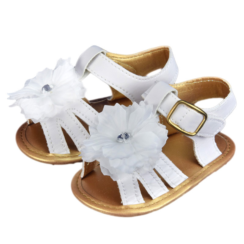 3d4fd63032fb6 Get Quotations · 2015 New Summer Girls Flower Sandals White Color Slip  Casual Flat with Shoes Toddler Shoes for