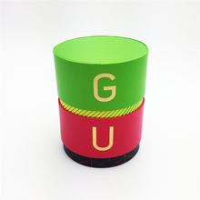 Luxury Custom Logo Cardboard Stamping Round Box With Lid