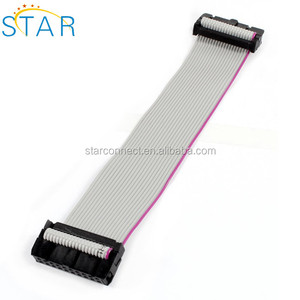 e348994793c9 approved electrical 16 pin IDC connector flat ribbon cable 2.54mm pitch idc  flat cable