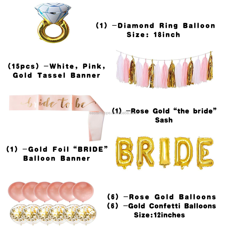 White With Gold Diamond Ring 'Bride To Be' Sash