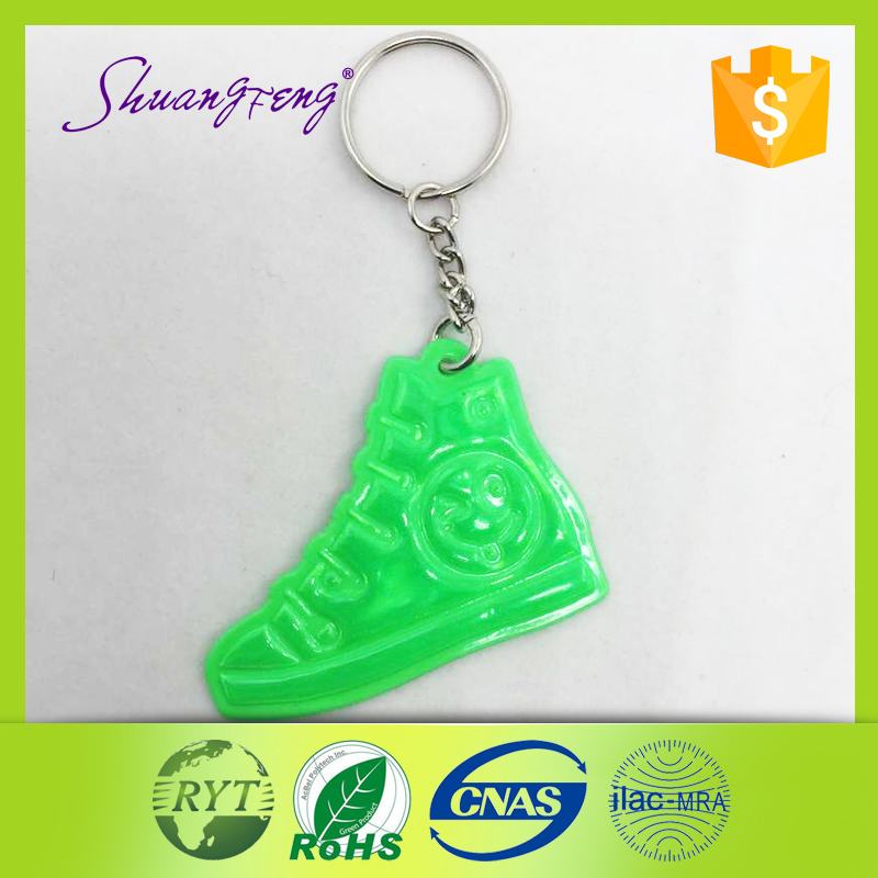 Hottest!! custom any logo with promotion reflective keychain
