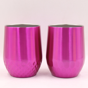 2018Hot Selling Silicone Wine Glass Vacuum Insulated Stemless Wine glass , Wine Glass Tumbler