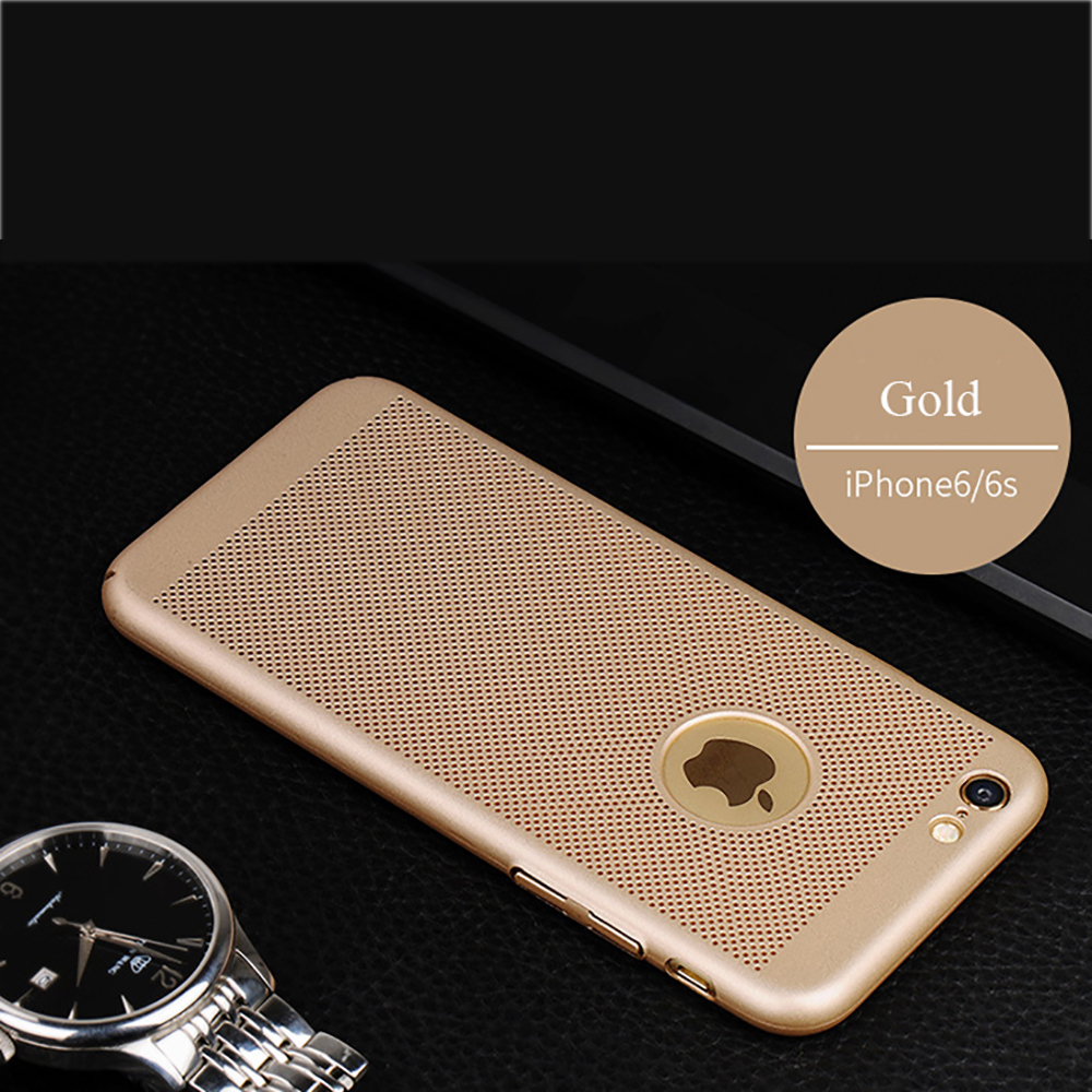 High quality hard plastics hollow-out heat dissipation ultra slim light protect phone case for iphone 6 6s plus case