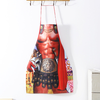 New Novelty Cooking Kitchen Roman Soldier Print Sexy Apron Baking Present Pinafore Chef Funny cute kitchen aprons