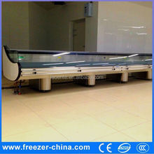 refrigerator and freezer fresh meat showcase,liquid nitrogen blast freezer refrigerator meat display chiller