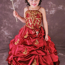 788d7766e564 2019 Spaghetti Strap Satin Ball Gowns Flower Girl Dresses. US $94.83 /  piece Free Shipping