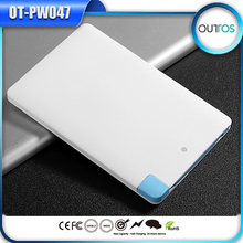 Hot Business card power bank 2500mah mobile phone bank power
