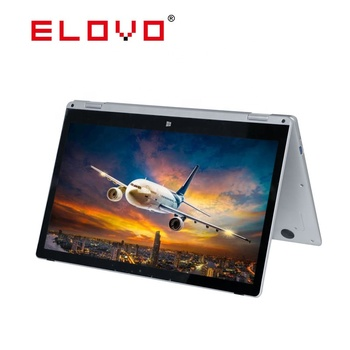 Rotating 360 degree Intel Celeron Apollo lake N3450 laptop and 13.3 inch full metal touch screen laptops in shenzhen
