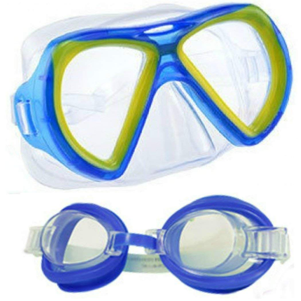 e8a2717df14 Get Quotations · Splash-N-Swim Kids Swim Goggles and Swim Mask 2-Pack for  Child