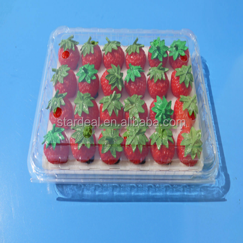 factory direct custom fashionable blister plastic strawberry packaging containers / strawberry packaging trays