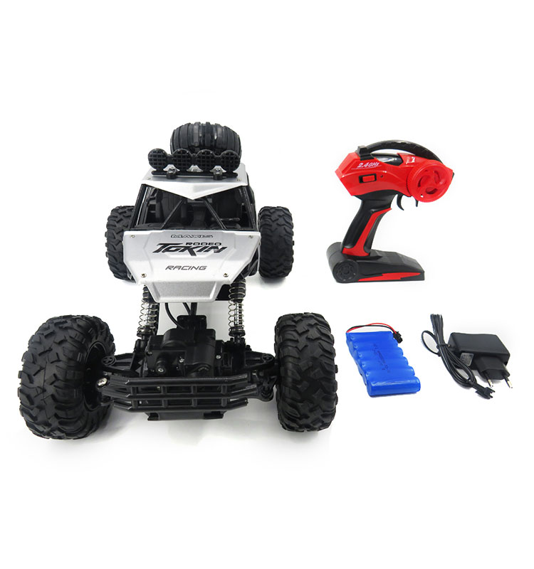 8. 6026E_Silver_2.4G_4WD_Off-Road_Buggy_Rc_Climbing_Car_Remote_Control_Alloy_Car