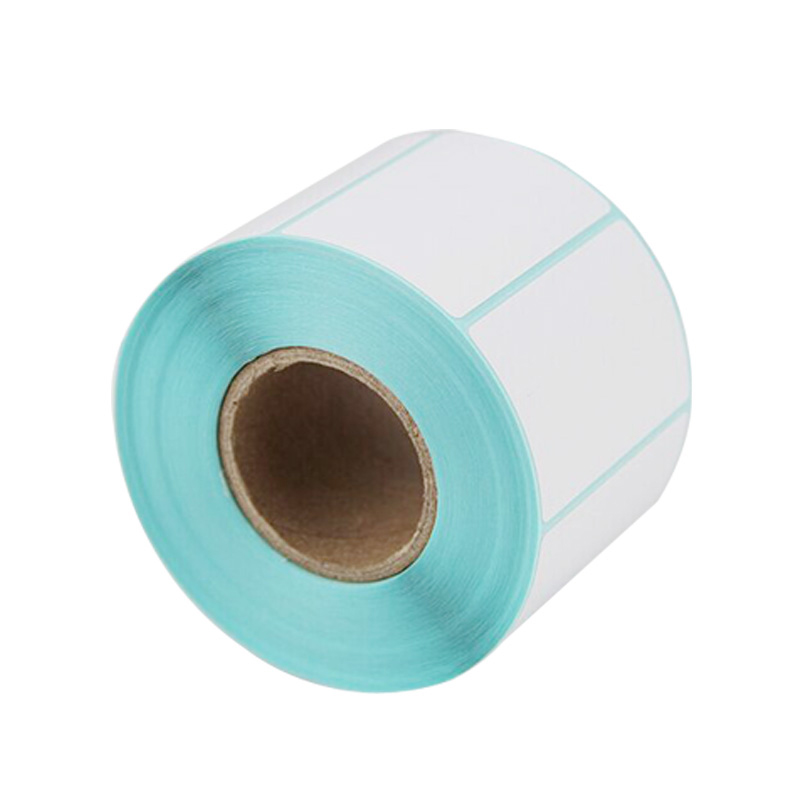 Eco Detachable Barcode Label Paper Direct Thermal Sticker Paper Blank Label For Shopping Malls Supermarkets In Jumbo Roll