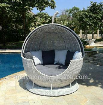 Ml 291 White Egg Chair Rattan European Style Chaise Lounge