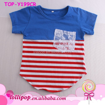 a7f33f0ec T-shirt Kids Models Little Boys Girls 1st 4th Of July Independence Day  Toddler Striped