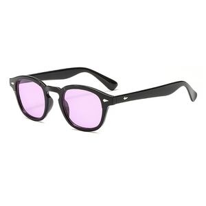 UV blocking johnny depp glasses candy color tinted sunglasses with rivets