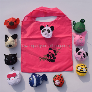 Large size animal shaped nylon foldable shopping bag