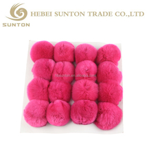 fur keyring wholesale fur pom poms rabbit fur ball