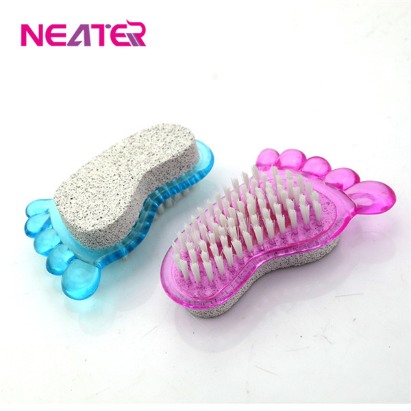 nail brush cleaner. hot sale two sides bristle plastic nail brush,body and foot clean brush, brush cleaner c