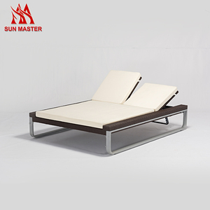 Direct Factory Sale Luxury Beach Swimming Pool Aluminum Mesh Sun Lounge Chair