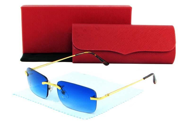 031ab34b3bb9 Hot Sale Carter Brand Designer Buffalo Sunglasses Men Women Rimless  Colorful Lens Glasses Lunettes De Soleil 9 Colors For Choose